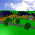nieuwbouw woning met bedrijfsgebouwen